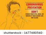 coronavirus precautions don't... | Shutterstock .eps vector #1677680560