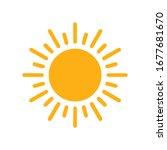 sun icon for graphic design... | Shutterstock .eps vector #1677681670