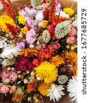 Vibrant Dried Flower Bouquet In ...