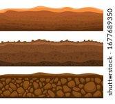 seamless ground section vector... | Shutterstock .eps vector #1677689350