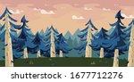 birch forest illustration for...