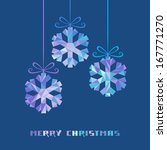 vector snowflakes with bow made ... | Shutterstock .eps vector #167771270