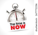 stopwatch   the time is now | Shutterstock .eps vector #167772236