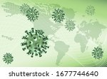 an epidemic virus world map... | Shutterstock .eps vector #1677744640