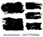 vector set of grunge artistic... | Shutterstock .eps vector #1677754966