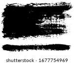 vector set of grunge artistic... | Shutterstock .eps vector #1677754969