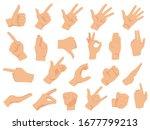 hand gestures. vector... | Shutterstock .eps vector #1677799213