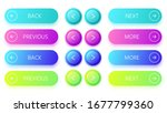 gradient buttons. next and back ... | Shutterstock .eps vector #1677799360