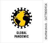 global pandemic. coronavirus... | Shutterstock .eps vector #1677800416