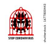 stop coronavirus. corona virus... | Shutterstock .eps vector #1677800443