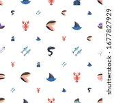 ocean icons pattern seamless.... | Shutterstock .eps vector #1677827929