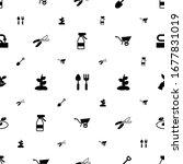 garden icons pattern seamless.... | Shutterstock .eps vector #1677831019