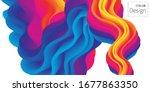 fluid flow. ink splash. liquid... | Shutterstock .eps vector #1677863350