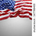closeup of american flag on... | Shutterstock . vector #167788400