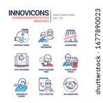 coronavirus protective measures ... | Shutterstock .eps vector #1677890023