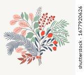 delicate vector floral...   Shutterstock .eps vector #1677920626