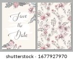 wedding invitation save the... | Shutterstock .eps vector #1677927970