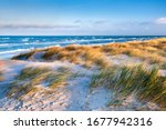 Stormy Baltic Sea  Beach With...