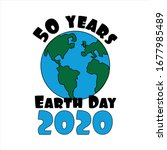 50 years earth day 2020 text ...   Shutterstock .eps vector #1677985489