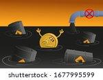indian rupee sinks in petroleum ... | Shutterstock .eps vector #1677995599