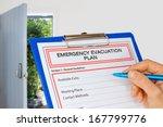 Hand Writing An Emergency...