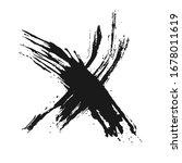 creative design of croos ink... | Shutterstock .eps vector #1678011619