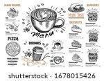 restaurant cafe menu  template... | Shutterstock .eps vector #1678015426