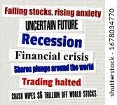 financial crisis newspaper... | Shutterstock .eps vector #1678034770