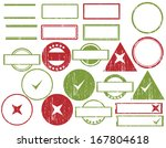 collection of 21 scratches for... | Shutterstock .eps vector #167804618