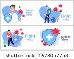 set vector illustration fight... | Shutterstock .eps vector #1678057753