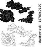 hand drawn peony flower chinese ... | Shutterstock .eps vector #1678060120