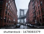 Manhattan Bridge New York City. ...