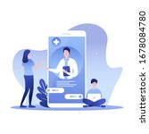 personal doctor landing page... | Shutterstock .eps vector #1678084780