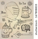 historical design elements | Shutterstock .eps vector #167808833