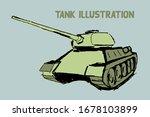 colorful tank vector sketch... | Shutterstock .eps vector #1678103899