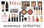 realistic cosmetics make up set ... | Shutterstock .eps vector #1678107763