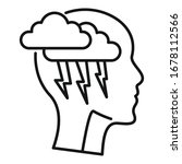 brainstorming icon. outline...   Shutterstock .eps vector #1678112566