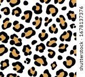 leopard print. seamless leopard ... | Shutterstock .eps vector #1678137376