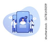 medical practitioners give... | Shutterstock .eps vector #1678145059
