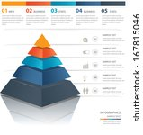 colorful  pyramid chart. useful ... | Shutterstock .eps vector #167815046