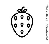 strawberry icon set with...