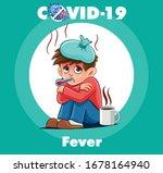 boy with coronavirus fever...   Shutterstock .eps vector #1678164940