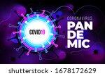 coronavirus covid 19 sars cov 2 ... | Shutterstock .eps vector #1678172629
