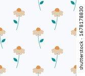 white daisy flowers seamless... | Shutterstock .eps vector #1678178830
