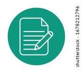 paper document with pen block...   Shutterstock .eps vector #1678212796