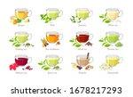 set of tea of   different types.... | Shutterstock .eps vector #1678217293