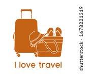 vector illustration suitcase ... | Shutterstock .eps vector #1678221319