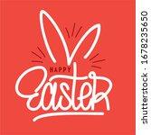 hand sketched happy easter... | Shutterstock .eps vector #1678235650