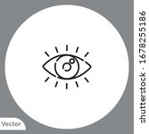 view vector icon sign symbol | Shutterstock .eps vector #1678255186