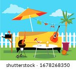 staycation place in the... | Shutterstock .eps vector #1678268350